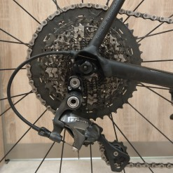 Cannondale CAAD12 drivetrain cassette after race at home-180716