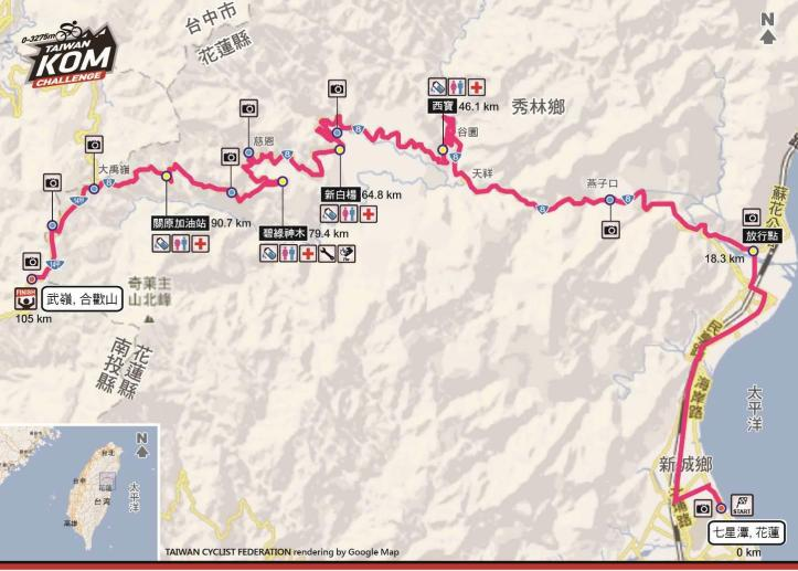 Taiwan KOM Challenge Route-180714